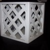 White Lattice Stand 12″