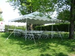 Tent, Rope and Pole 20'x 20′