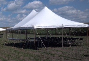 Tent, Rope and Pole 20'x 30′