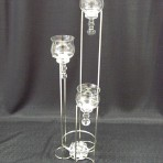 Centerpiece, Three Tiered With Glasses