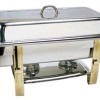 Chafer, 8 Quart with Gold Trim