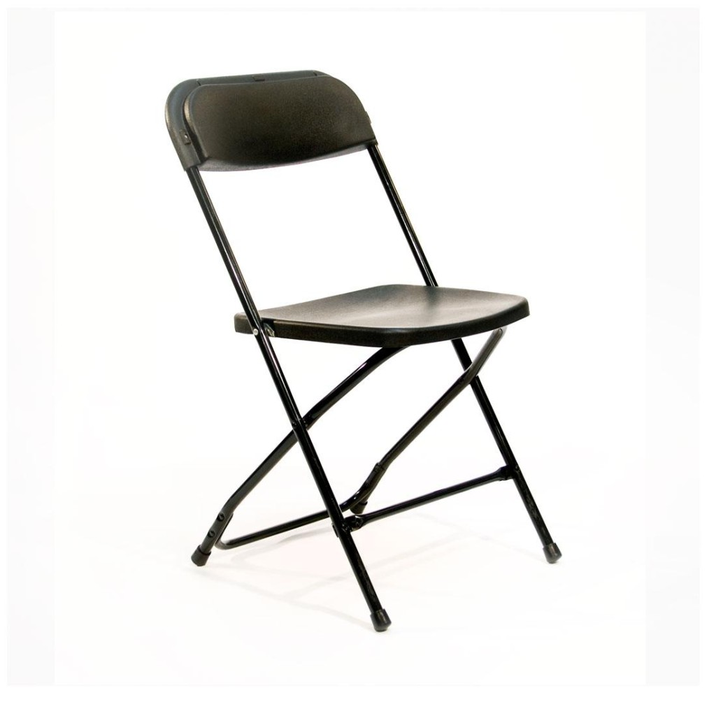 Folding Chair Basic Black Uptown Rentals