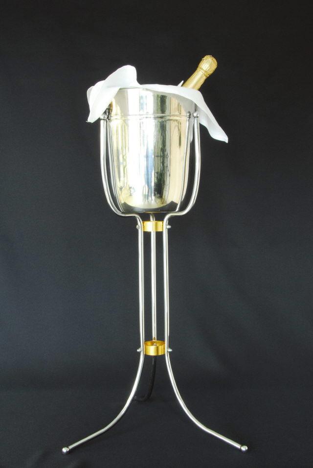 Champagne Bucket Floor Standing Uptown Rentals