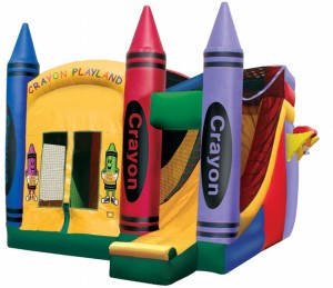 Crayon Bounce with Slide