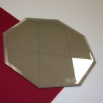 Mirror Tile, Hexagon 13″