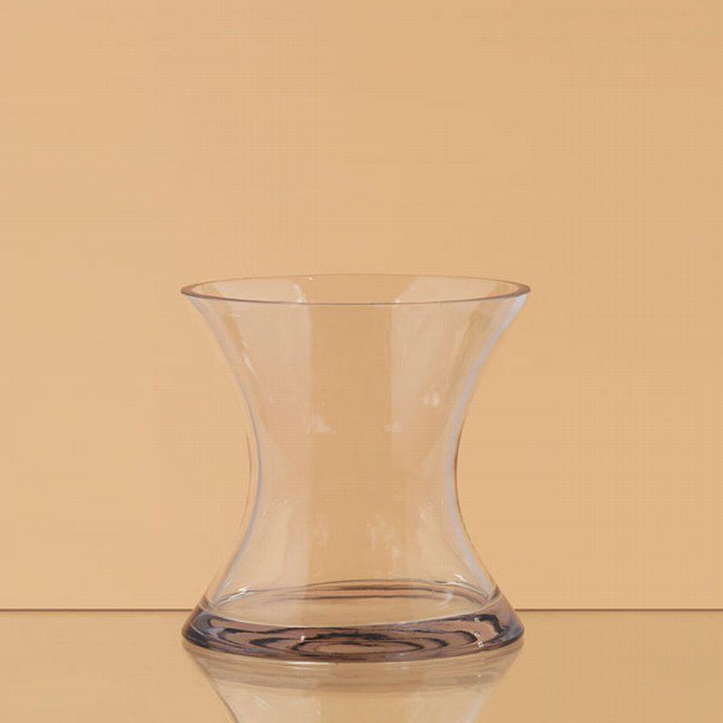 Centerpiece hourglass vase uptown rentals