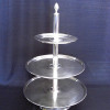 Tray, Tiered Three Stainless