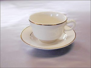 Gold Rimmed  Coffee Cup