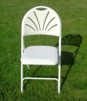 Folding Chair Padded Fan Back