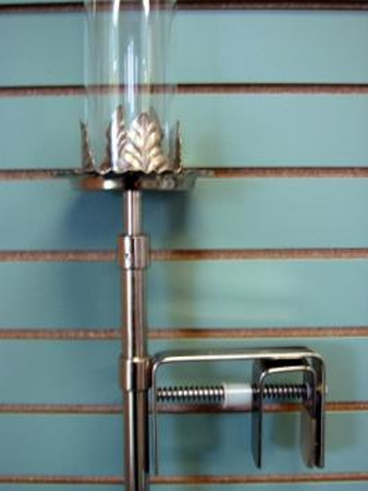 Candelabra Pew Clamp Candle Holder Silver Uptown Rentals