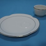 Gold Rimmed  Snack Plate with Cup