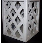 White Lattice Stand 36″