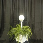 Lights, Single Globe in Plant Stand