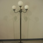 Lights, Four Globe, 8′ Brown with white globes
