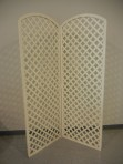 Backdrop, Lattice White 2 Panel Roundtop