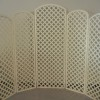 Backdrop, Lattice White 5 Panel
