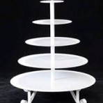 Tray, Tiered Five White